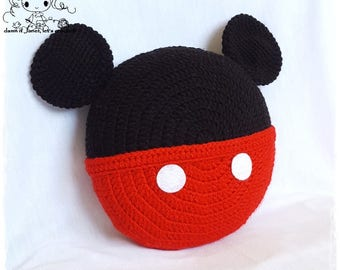 Inspired Mickey Mouse Pillow - PDF Crochet Pattern - Instant Download