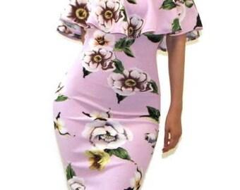 Off Shoulder Dress,Off Shoulder Midi,Ruffle Off Shoulder,Bare Shoulder Midi,Pink Floral Midi,Blue Midi,Bodycon Floral Midi,Knee Length Dress