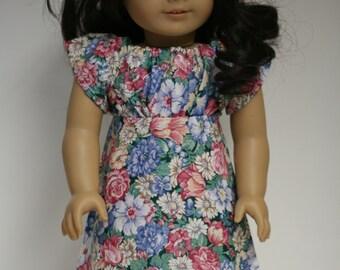 "Sundress Fits American Girl Doll, Summer Dress, 18 inch Doll Clothes, Easter Dress 18"" Doll, 18"" Doll Dress"