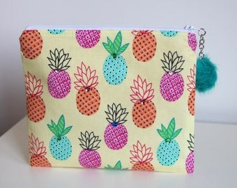 Pineapples Jewelry Pouch Cosmetic Bag