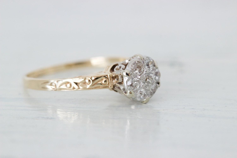 antique engagement ring edwardian engagement ring 14k