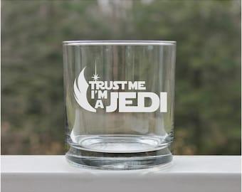 star wars jedi, etched whiskey glass, whiskey glasses, whiskey glass, scotch glass, 11oz, Cocktail Glasses, jedi glass, starwars