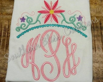 Flower crown Applique