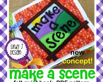 Make a SCENE PUZZLE Felt Quiet Book .PDF Pattern