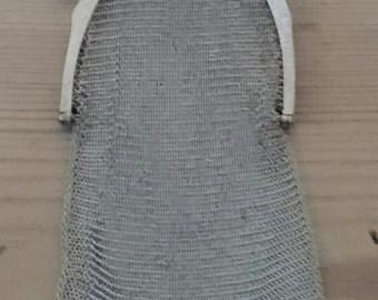Vintage epns mesh purse with a tassel
