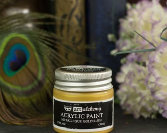 Gold Rush Art Alchemy Metallic Acrylic Paint - Thick, Shiny Acrylic Craft paint