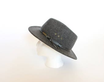Vintage Pendleton Hat Wool Fedora Bowler Cowboy Hat Women's Fedora Men's Leather Band