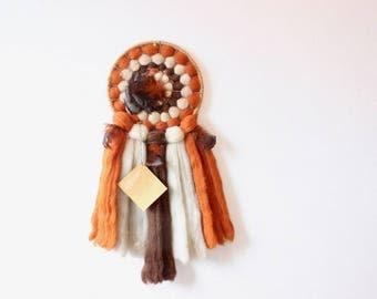 Large Dream Catcher Vintage Mandala Native American Wall Hanging Fiber Art Woven Wool Wall Hanging