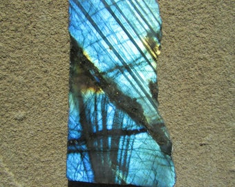 Labradorite Stone - Raw Labradorite Slab Polished On One Side. Cutting Rough Labradorite Loose Stone - Raw Crystals and Stones