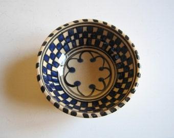 vintage hand painted ceramic bowl