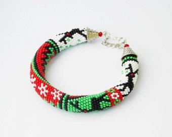 Christmas bracelet | Etsy