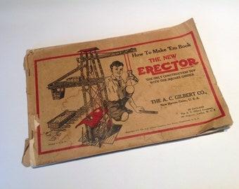 1938 A.C.Gilbert Erector Set How To Make 'Em Book.