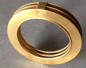tin bracelet nickelled brushed gold