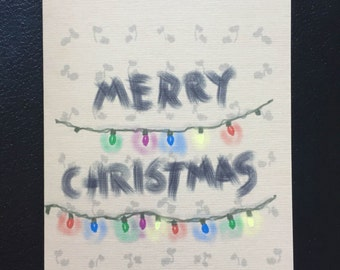 Stranger Christmas, Stranger Things Parody Holiday Greeting Card