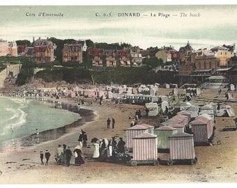 Vintage Postcard - Cote d'Emeraude - C615 Dinard - La Plage - The Beach - Divided Back
