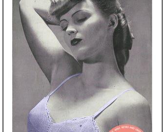 1940s Bra Crochet Pattern - PDF Crochet Pattern - PDF Pattern - Instant Download