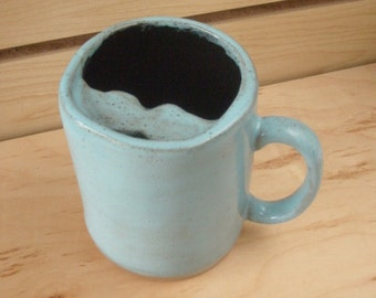 Mustache coffee mug blue coffee mug gifts for him Mustache coffee cup Man cave decor fathers day man's birthday dad's birthday stoneware mug
