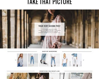 "Responsive Wordpress Theme ""Take That Picture"" // Photography Premade Blog Template Wordpress Design Instant Digital Download"