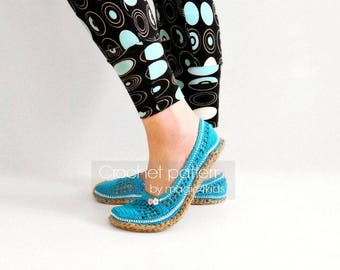 Crochet pattern: women slippers with jute rope soles,soles pattern included,all female sizes,adult,shoes,espadrilles,adult,girl,cord,twine