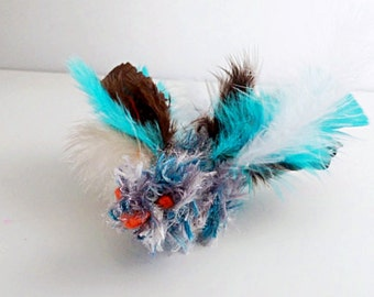 Blue Bird Cat Toys, Knitted Catnip Birds, Optional Catnip & Bell, Bird Cat Toys, Feather Cat Toys, Kitten Play