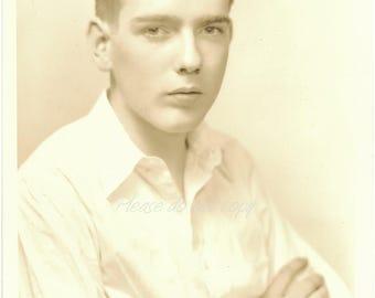 Vintage Photo ~  handsome 1930's school boy