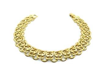 Vintage Chain Link Bracelet, Gold Tone