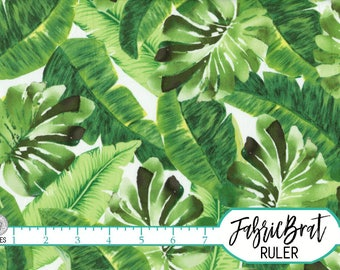 TROPICAL LEAF Fabric by the Yard Fat Quarter Fabric Big Green Jungle Leaves Fabric Quilting Fabric 100% Cotton Fabric Apparel Fabric a4-25