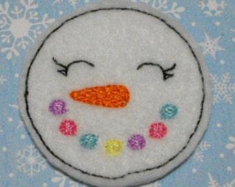 Multi Color Snowman Felties, Felt Paper Clip, Felt Bookmark, Feltie Hair Clip, Felt Hair bow, Felt Hair Clip, Felt Hair Clip