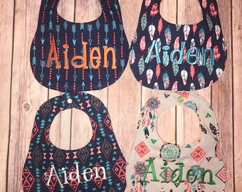 Personalized Bib set of 4 -Perfect Arrow Collection