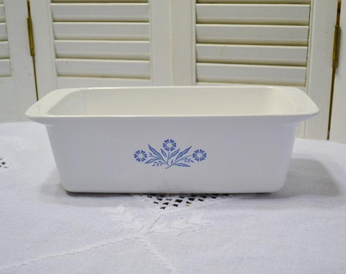 Vintage Corning Ware Cornflower Blue Loaf Pan Baking Dish Retro Kitchen Glass Bakeware P315 PanchosPorch