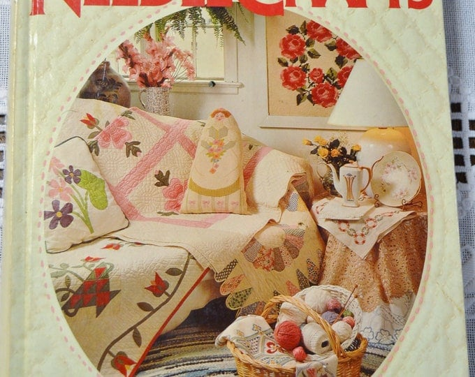 Better Homes and Gardens Treasury of Needle Crafts Book 1982 Knit Crochet Sewing Vintage Hardcover Book PanchosPorch