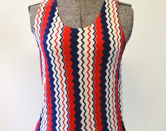 Vintage Striped 1970's Singlet Top