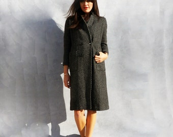 Double Breasted Coat, Military Coat, Wool Coat, Gray Coat, Long Coat, Womens Coats, Grey Overcoat, Vintage Wool Coat, Spring Coat Minimalist