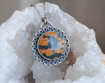 Round Ocean Jasper Necklace