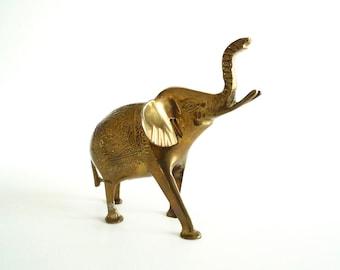 Brass Elephant, Elephant, Brass Elephant, Brass Figurine, Brass Statue, Elephant Statue, Decorative Brass, Zoo, African Animals