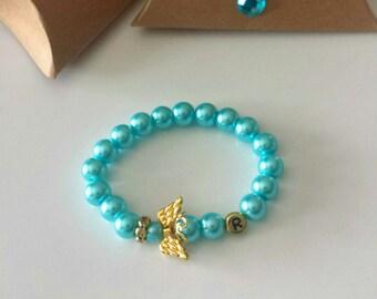 Flower Girl Bracelet, Personalized Bracelet, First Communion Gift, Baptism Gift,Bracelet Birthday Gift, Personalized Bracelet, Baptism Gift