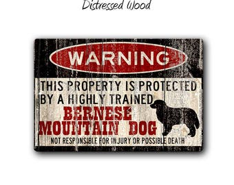 Bernese Mountain Dog Sign,Funny Metal Signs,Bernese Warning Sign,Funny Dog sign,Warning Sign,Bernese gift,Berner gift,SS1_061