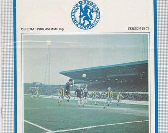 Vintage Football (soccer) Programme - Chelsea v Southampton, 1975/76 season