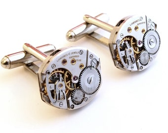Vintage LONGINES watch Cufflinks, Vintage Watch Cufflinks, Boyfriend Christmas Gift, Xmas Gift Ideas, Vintage Cufflinks, Gift Ideas