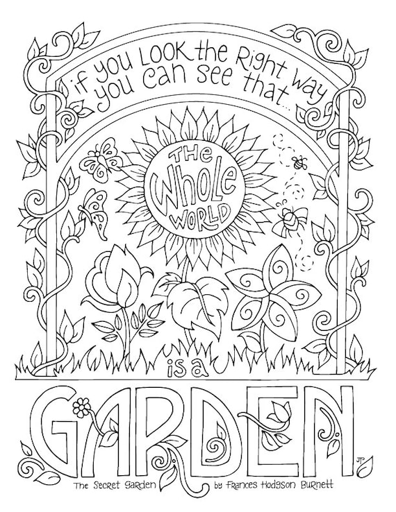 Extraordinary Flower Garden Coloring Pages Online Free