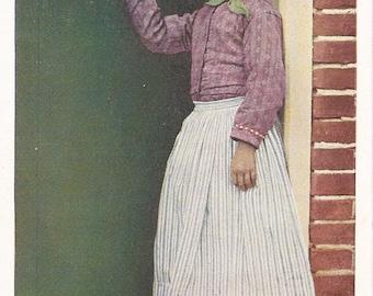 Volendam Girl Vintage Postcard. Holland. Netherlands. Circa 1900s