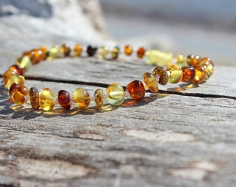 Baltic Amber anklet, Natural jewelry, Bohemian jewelry, Healing gemstones, Gypsy jewelry, Birthday gift for her, Womens anklet, Bead jewelry