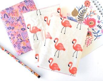 Flamingo Passport Holder, Rifle Paper Co Fabric Travel Wallet Organizer, Tropical Travel Accessories, Womens Passport Case Gift for Traveler