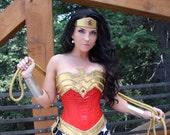 SEQUIN Wonder Superhero Woman Corset