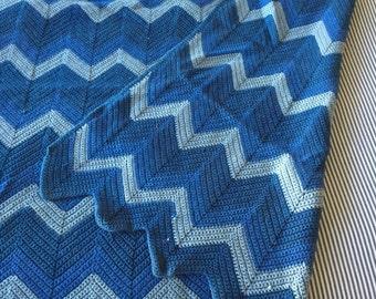 Handmade Vintage Zig Zag Blanket