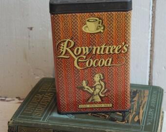 Vintage Tin - Rowntree's Cocoa Tin