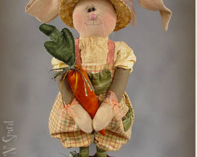 """Featured listing image: Pattern: Gracie - 20"""" Garden Bunny"""