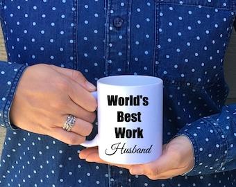 World's Best Work Husband Mug // Work Husband Gift // Work Wife // Work Husband // Work Spouse // Work Marriage Mug // Valentin'e Day Gift
