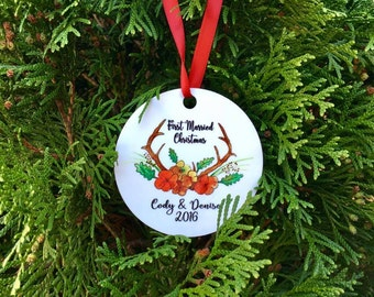 first married christmas ornament // christmas ornament // our first christmas // first christmas // wedding ornament / mr and mrs / marriage