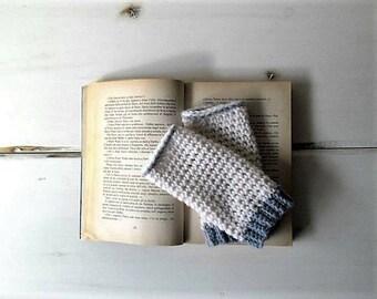 Fingerless mittens, crochet fingerless gloves, fingerless mitts, arm warmers wool